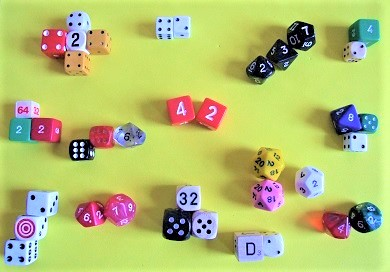 Multiple dice with 42